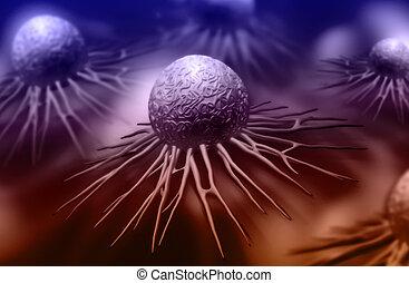 stem cell - Digital illustration of stem cell in color...
