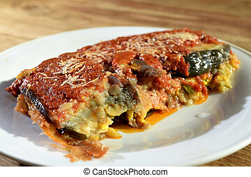 parmigiana - a vegetarian and healthy recipe: parmigiana of...