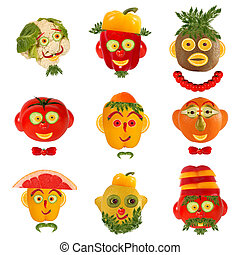 A creative set of food concepts. A few funny portraits from...