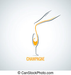 champagne glass bottle background