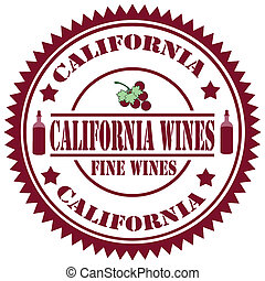 California Wines-stamp - Rubber stamp with text California...