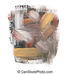 Gouache acrylic art paint brush rough dab stroke texture...