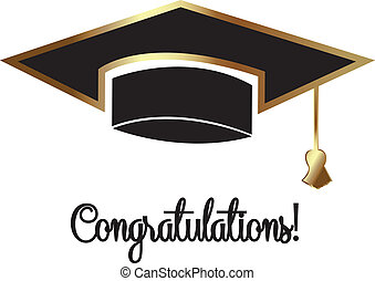 Vector of graduation hat - Vector illustration of graduation...