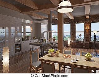 Modern Loft - Modern loft with kitchen