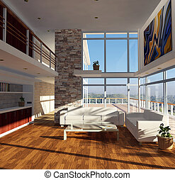 Modern House - Modern house with beautiful view