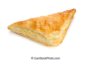 Puff Pastry Triangle Isolated on White Background