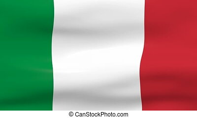Waving Italy Flag