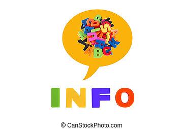 信息, 孩子, 信件, 多种顏色, 寫, 塑料
