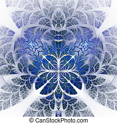 Fabulous fractal pattern in blue. Collectiont - tree...