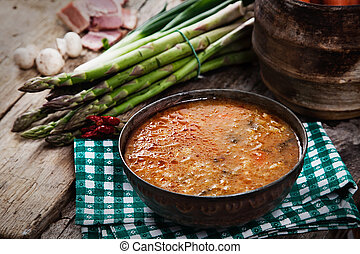 Stew - Vegetable stew Delicious soup with vegetables and...
