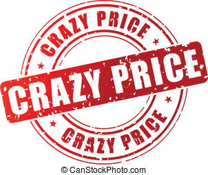 Vector crazy price stamp