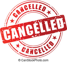 Vector cancelled stamp - Vector illustration of red...