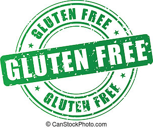 Vector gluten free stamp - Vector illustration of green...