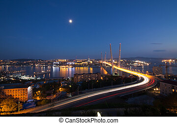 Bridge in Vladivostok - New bridge over the in Vladivostok