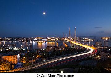 Bridge in Vladivostok - New bridge over the in Vladivostok