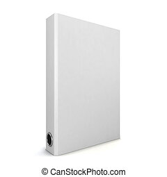White binder. 3d illustration isolated on white background