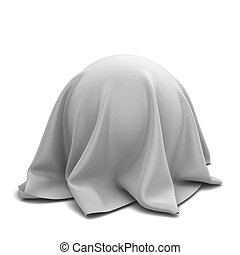 Ball covered with cloth. 3d illustration isolated on white...