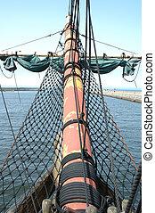 Bowsprit on sailing vessel - Bowsprit on old sailing vessel...