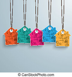 5 Colored Price Sticker - White house price sticker on the...