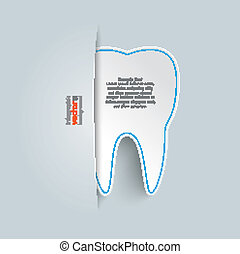 Convert Tooth - Big convert tooth on the grey background.