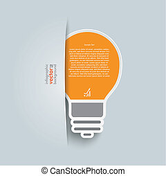 Convert Bulb - Big convert bulb on the grey background.