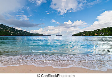 Magens Bay Beach on St Thomas USVI - View of Magen's Bay,...