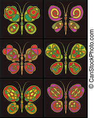 ornament in the form of butterflies - Celtic an ornament in...