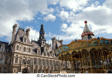 Hotel de Ville in Paris. (City Hall) - Hotel de Ville in...