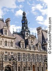 Hotel de Ville in Paris. (City Hall)