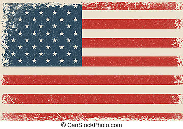 Grunge USA Flag - Vector Grunge USA Flag