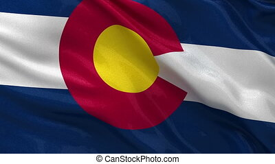 US state flag of Colorado loop - US state flag of Colorado...