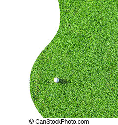Golf club. Green field and ball in grass - Golf club. Green...