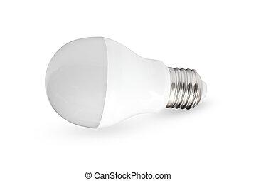 Isolated LED light bulb on white background