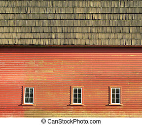 Barn Windows - Rustic Red Barn