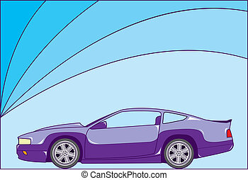 Sport coupe - sport coupe vector illustration clip-art eps