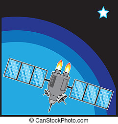 Satellite - satellite vector illustration clip-art eps