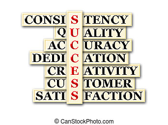 success - acronym of success and other releated words on...