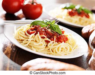 tomate, Espaguetis, salsa, pastas, italiano