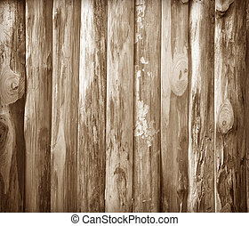 Wood walls are not smooth, old brown texture background
