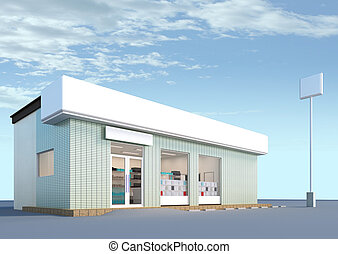 convenience store - The objects made at 3d