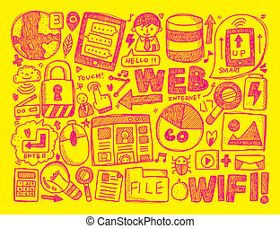 doodle internet background