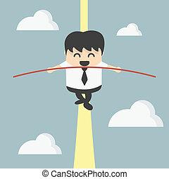 Business man balancing