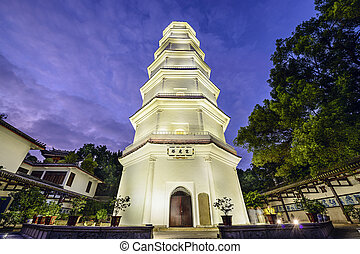 White Pagoda of Fuzhou, China - Fuzhou, Fujian, China at the...