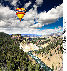 The Yellowstone River in Yellowstone NP - The Yellowstone...