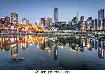 Chongqing, China across the Jialing River.
