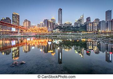 Chongqing, China across the Jialing River.
