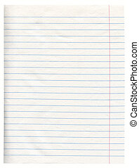 Notebook Paper - Notebook Line White Paper With Margin...