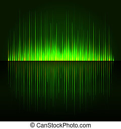 Green Digital Abstract Equalizer Background. Vector