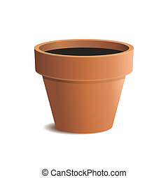 Flower Pot Isolated on White Background Vector illustration