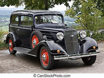 Oldtimer car (Oldtimer exhibition Durnten, Switzerland)